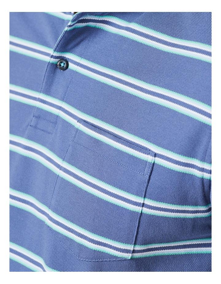 Pique Stripe Polo  Blue image 5