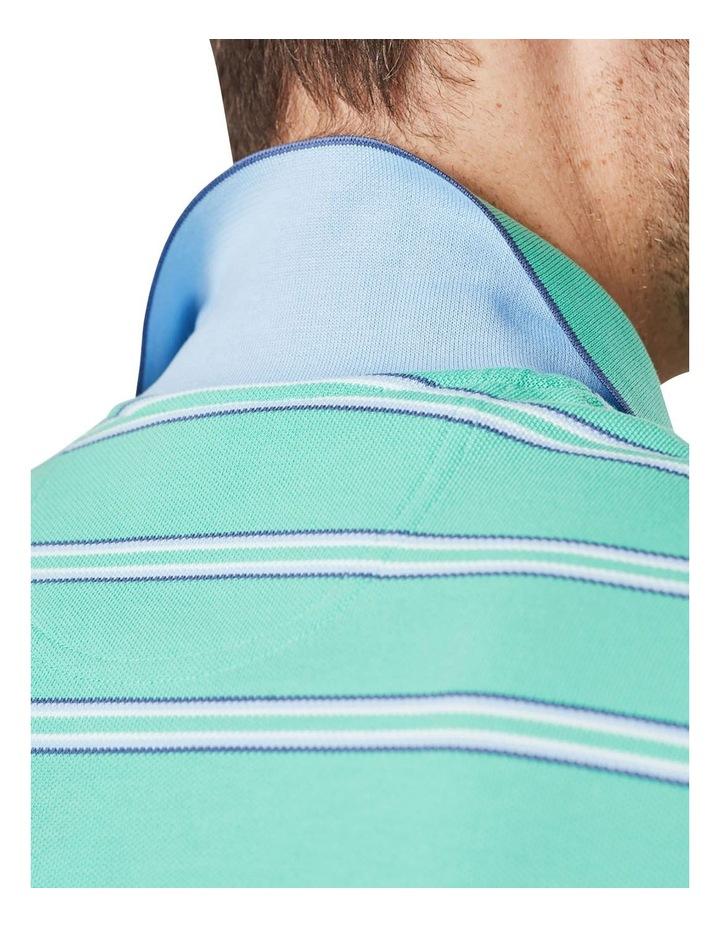 Pique Stripe Polo  Jade image 4