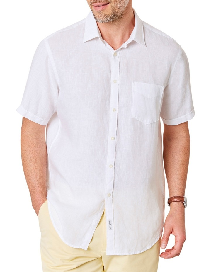 2358ba96 Gazman | Pure Linen Plain Short Sleeve Shirt | MYER