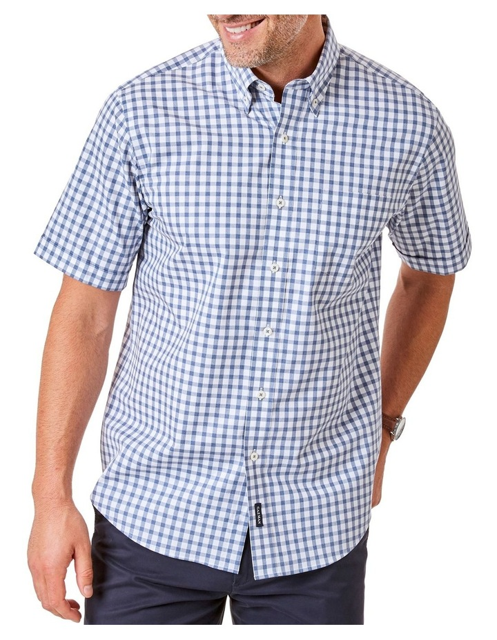 Casual Melange Box Check Short Sleeve Shirt image 1