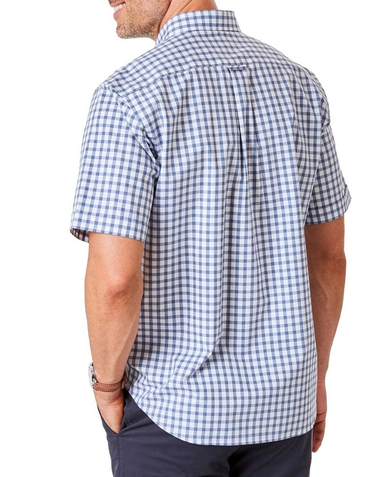 Casual Melange Box Check Short Sleeve Shirt image 2