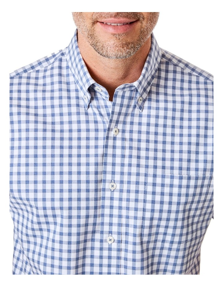 Casual Melange Box Check Short Sleeve Shirt image 3