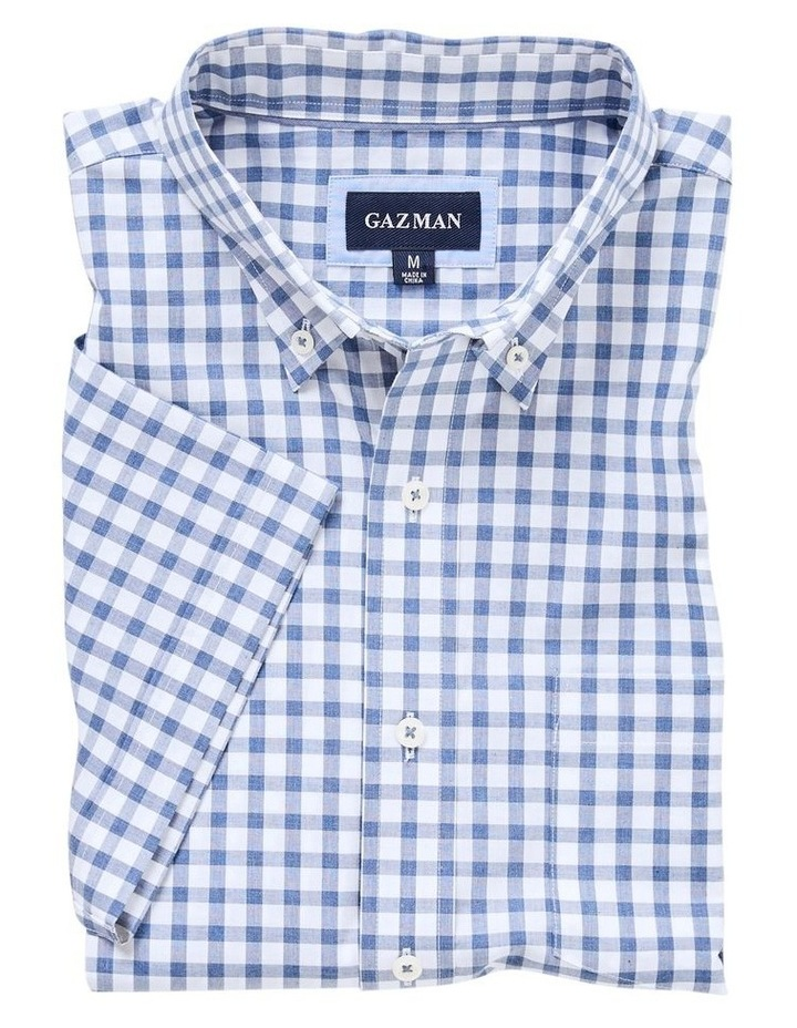 Casual Melange Box Check Short Sleeve Shirt image 4