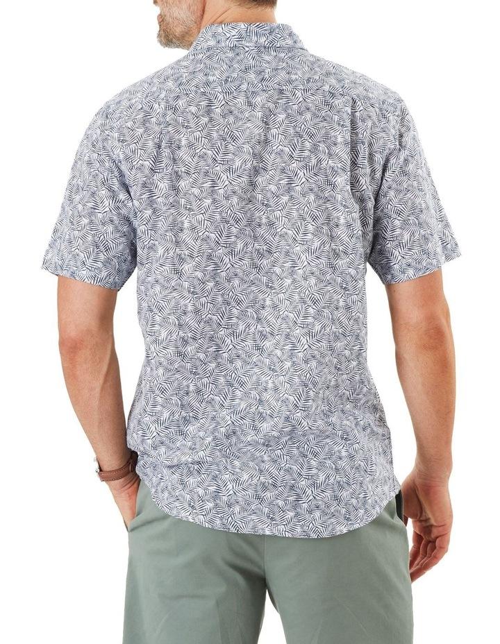 Linen Blend Palm Print Short Sleeve Shirt image 2