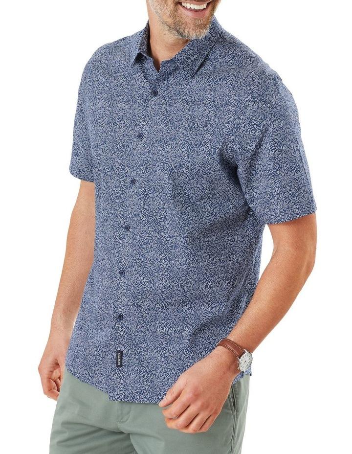 Casual Wave Print Short Sleeve Shirt image 1