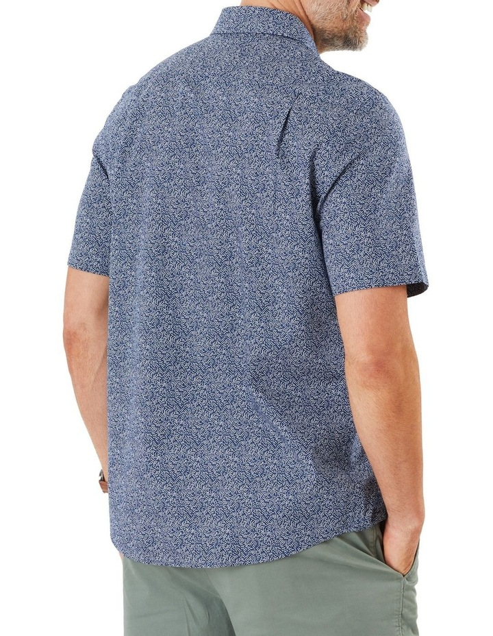 Casual Wave Print Short Sleeve Shirt image 2