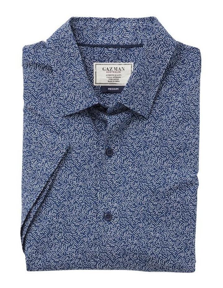 Casual Wave Print Short Sleeve Shirt image 4