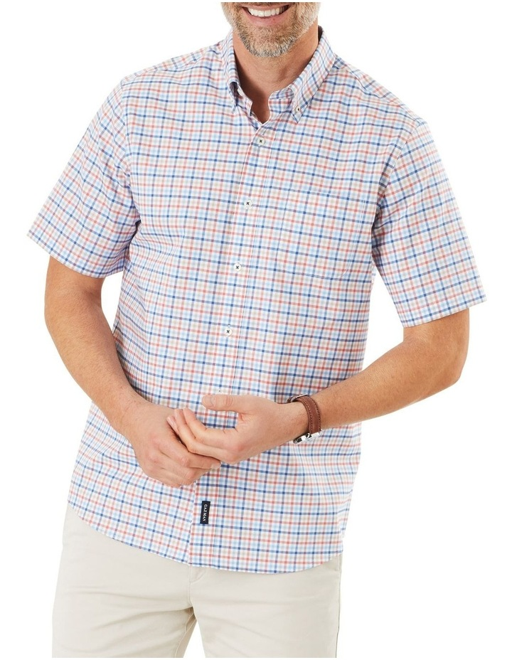 Easy Care Oxford Multi Check Short Sleeve Shirt image 1