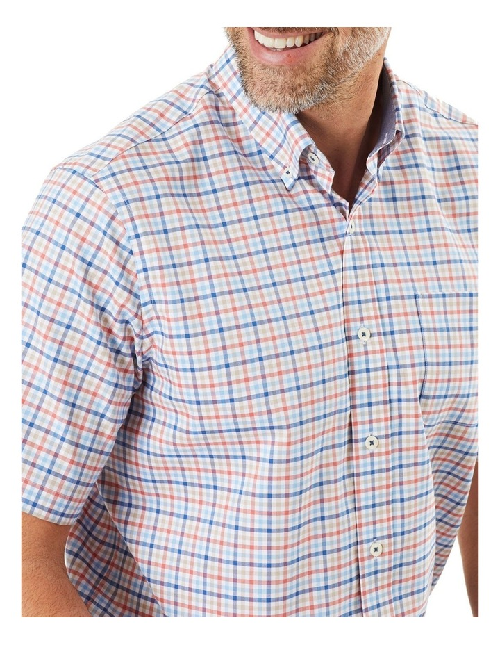 Easy Care Oxford Multi Check Short Sleeve Shirt image 3
