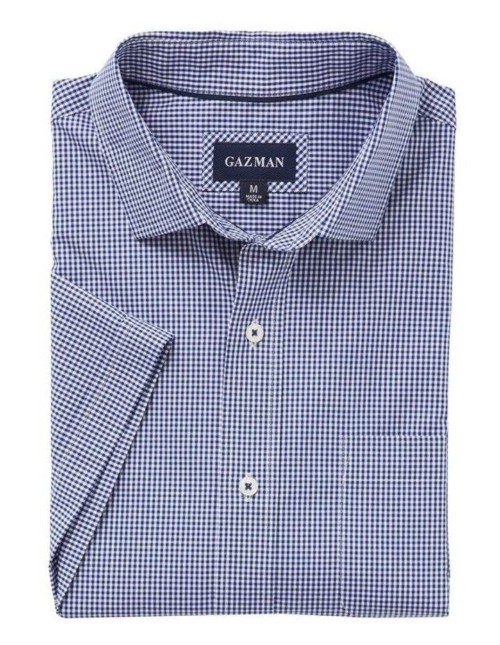 Easy Care Stretch Gingham Short Sleeve Shirt image 4