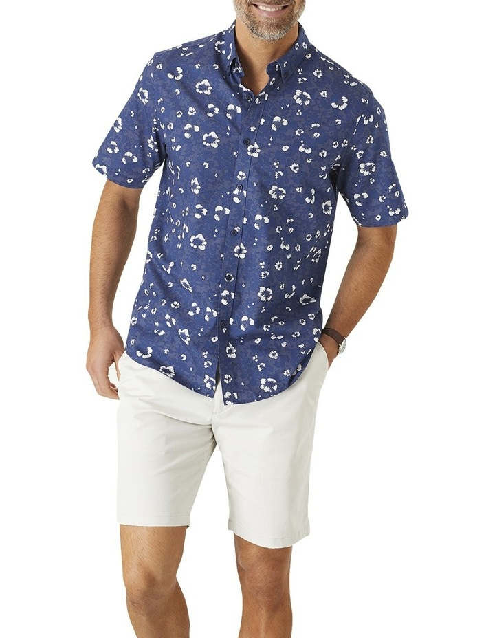 Casual Hibiscus Floral Print Short Sleeve Shirt image 1