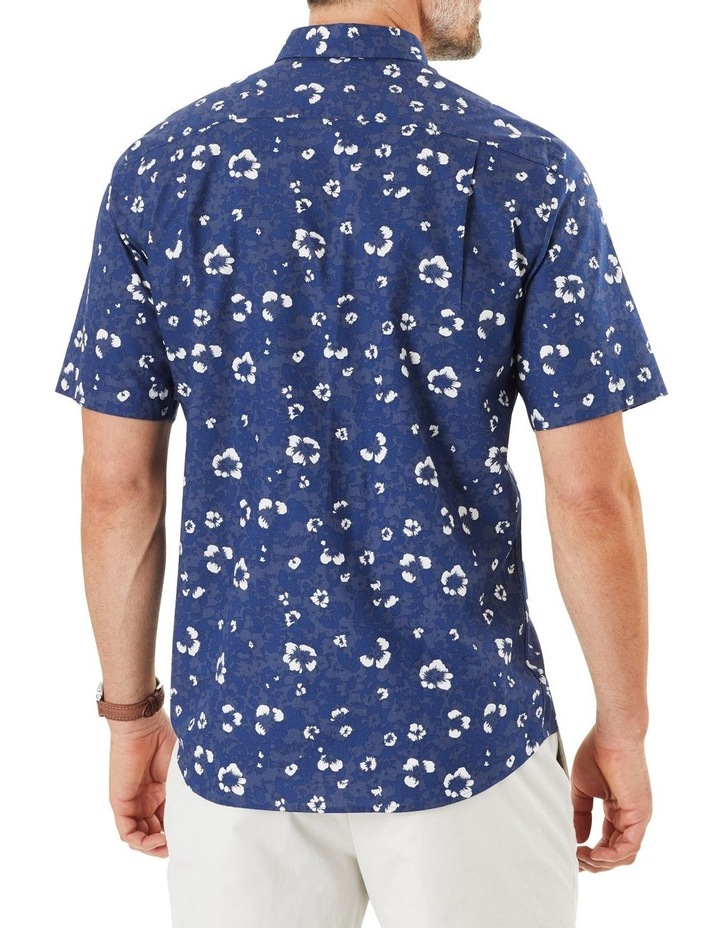 Casual Hibiscus Floral Print Short Sleeve Shirt image 3