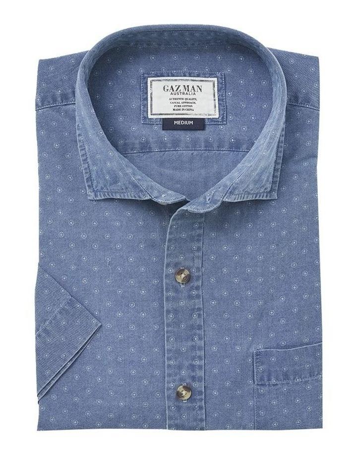 True Indigo Print Short Sleeve Shirt image 4