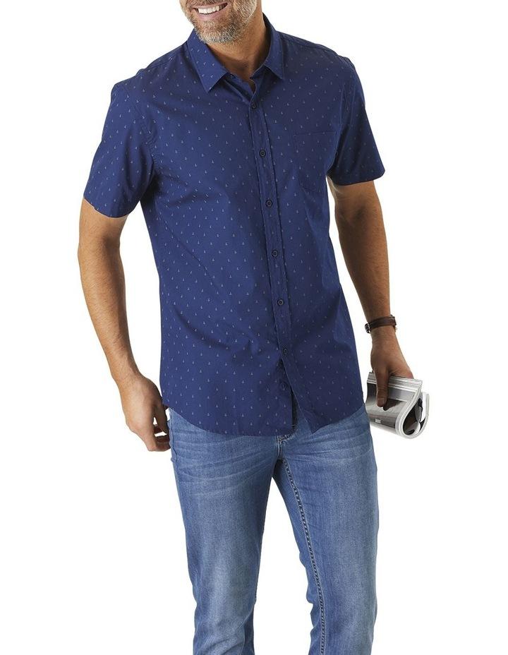 Tailored Smart Anchor Print Short Sleeve Shirt image 1