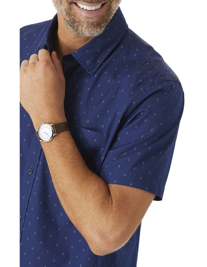Tailored Smart Anchor Print Short Sleeve Shirt image 2