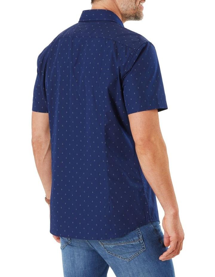 Tailored Smart Anchor Print Short Sleeve Shirt image 3