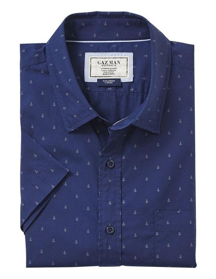 Tailored Smart Anchor Print Short Sleeve Shirt image 4