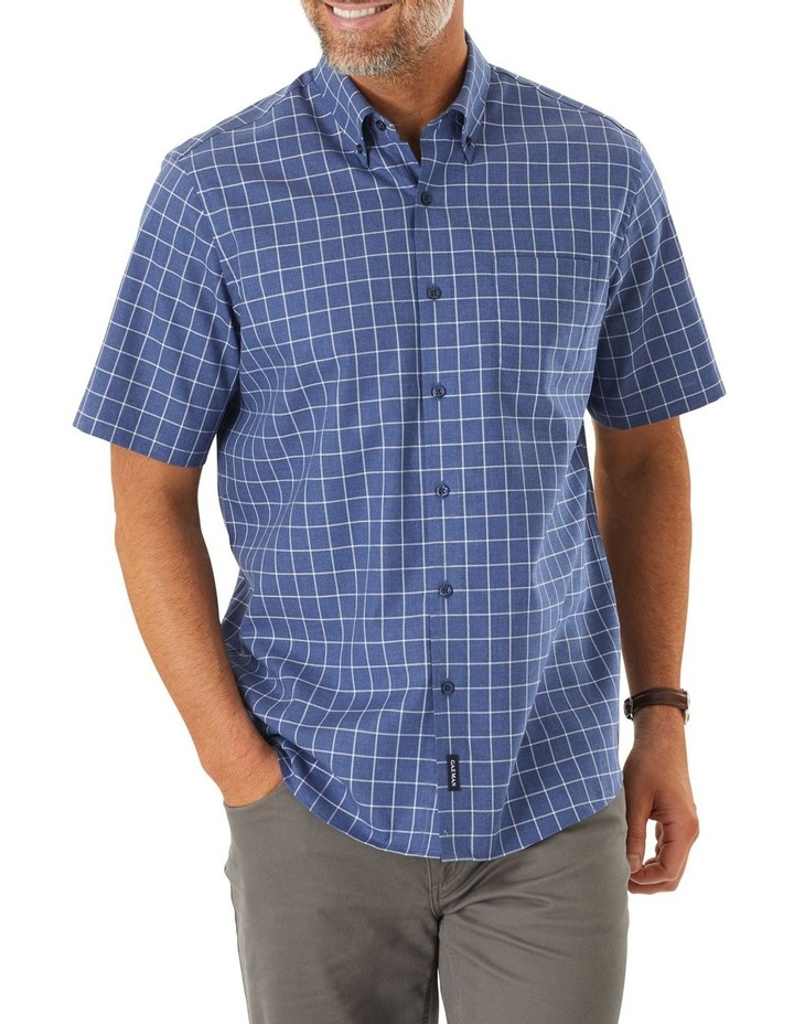 Easy Care Window Pane Check Short Sleeve Shirt image 1