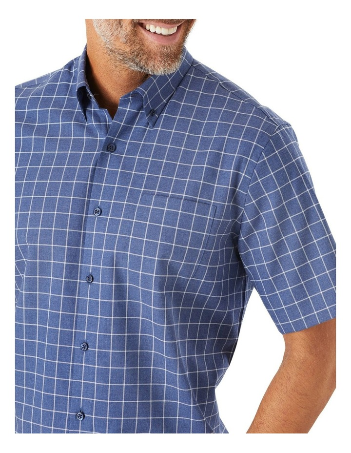 Easy Care Window Pane Check Short Sleeve Shirt image 3