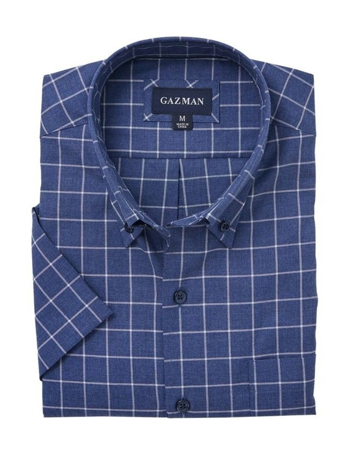 Easy Care Window Pane Check Short Sleeve Shirt image 4