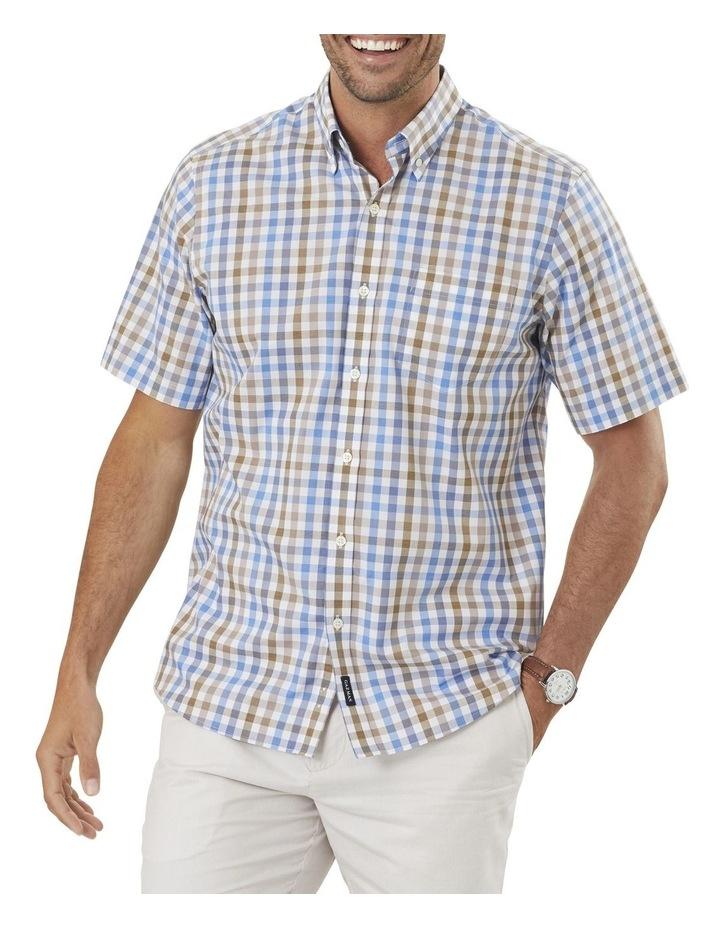 Easy Care Melange Check Short Sleeve Shirt image 1