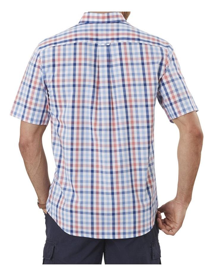 Easy Care Melange Check Short Sleeve Shirt image 2