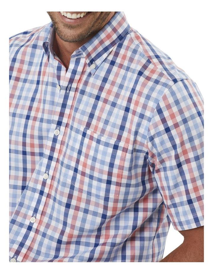 Easy Care Melange Check Short Sleeve Shirt image 3