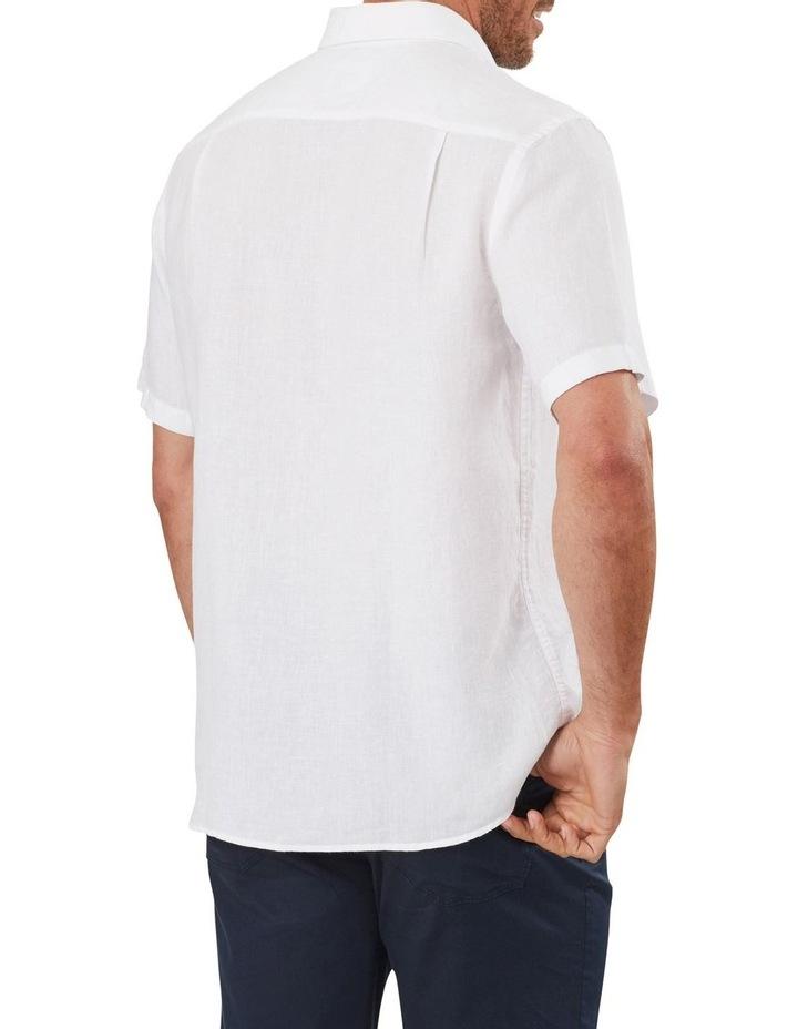 Pure Linen Plain Short Sleeve Shirt image 2