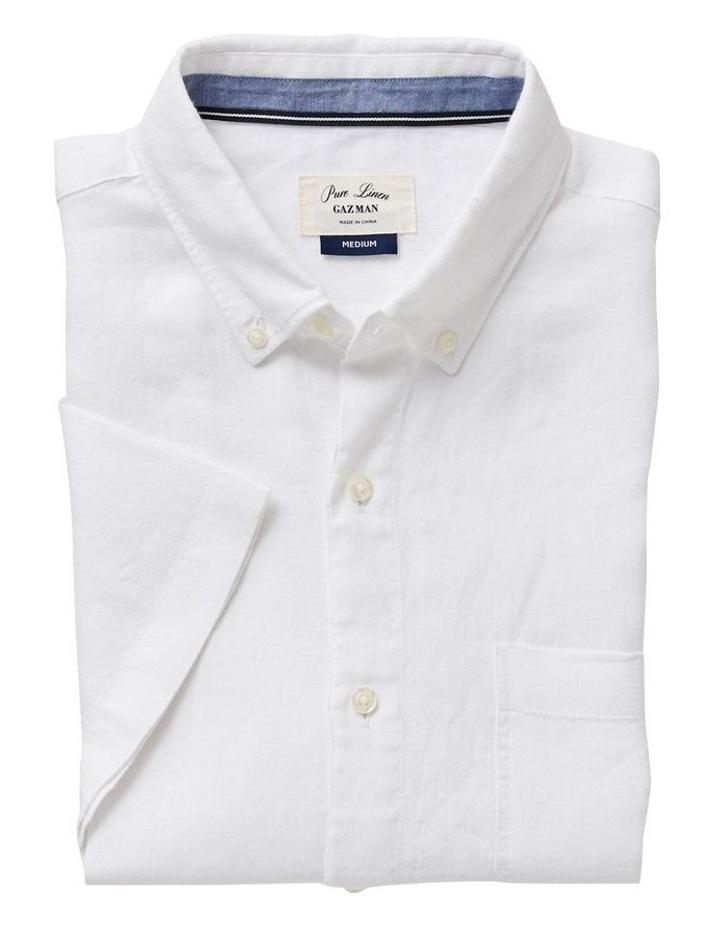 Pure Linen Plain Short Sleeve Shirt image 4