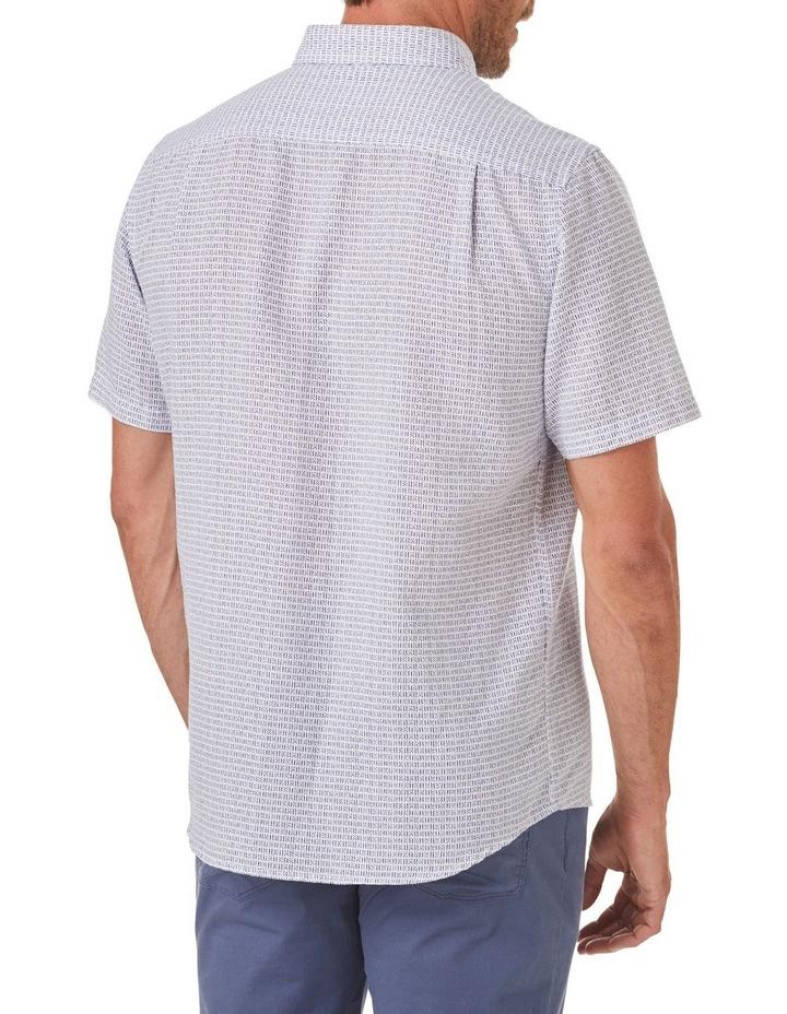 Linen Blend Dash Print Short Sleeve Shirt image 2