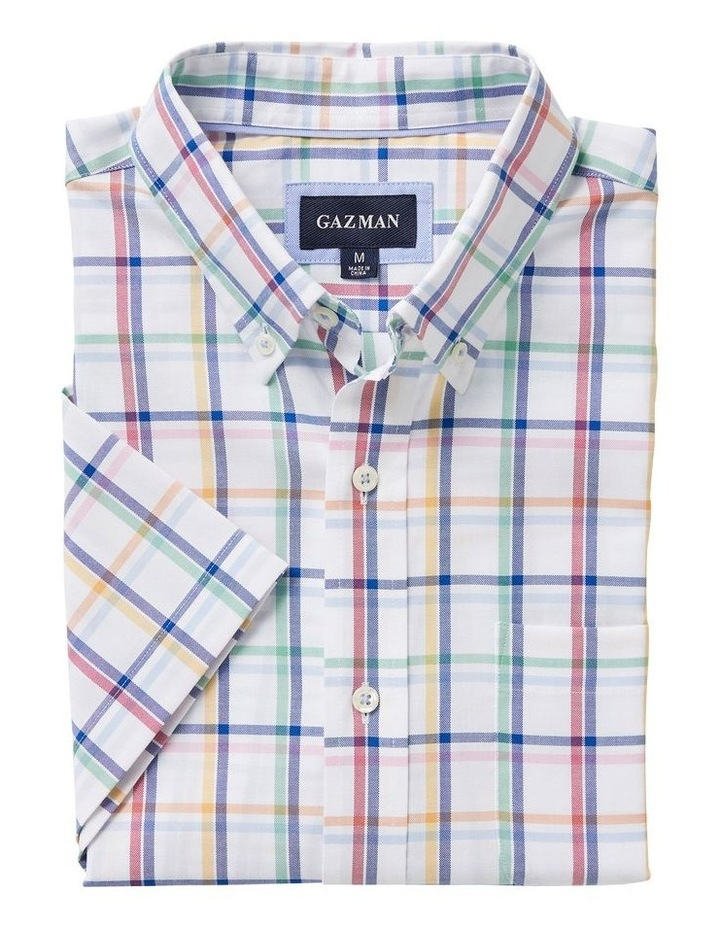 Easy Care Oxford Check Short Sleeve Shirt image 4