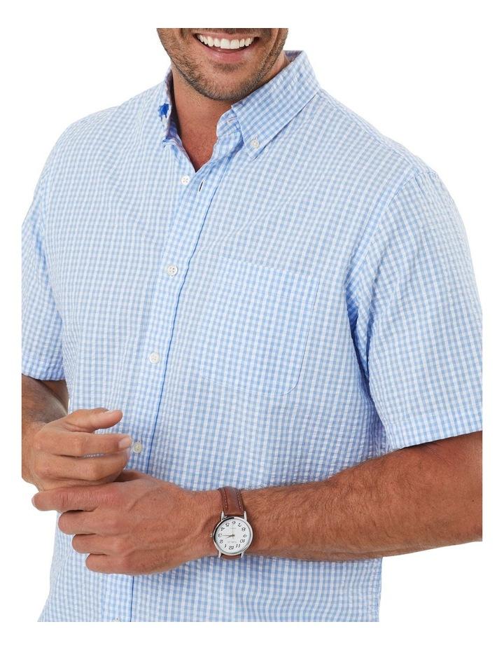 Seersucker Check Short Sleeve Shirt image 3