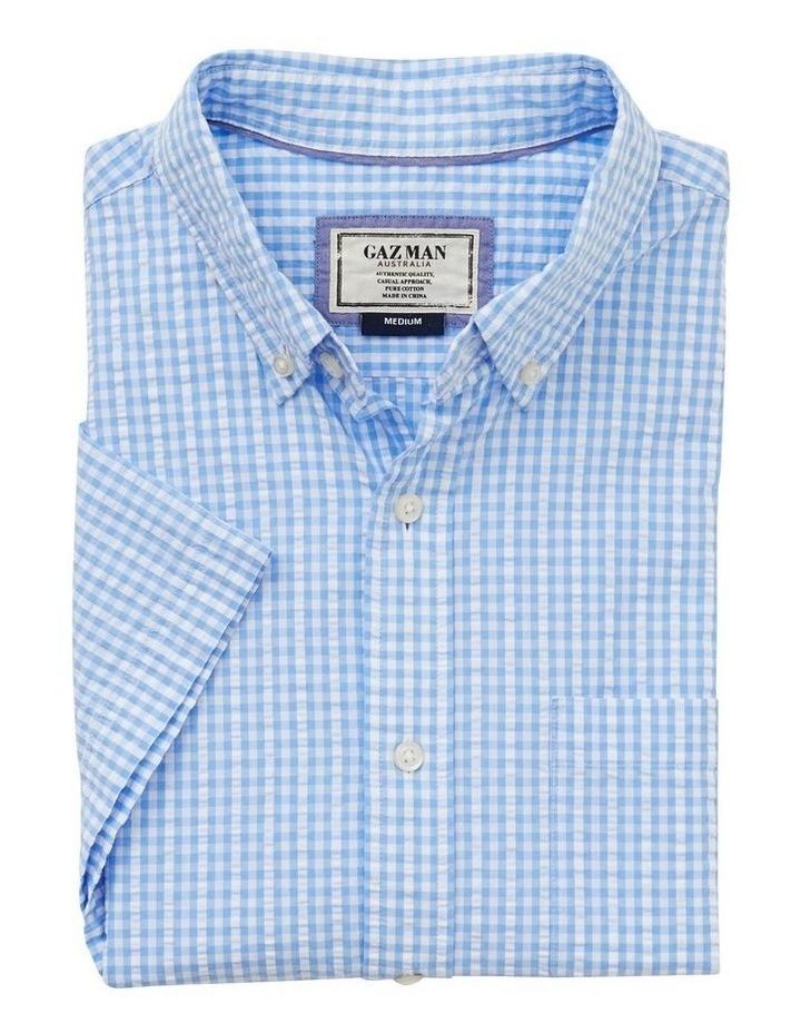 Seersucker Check Short Sleeve Shirt image 4