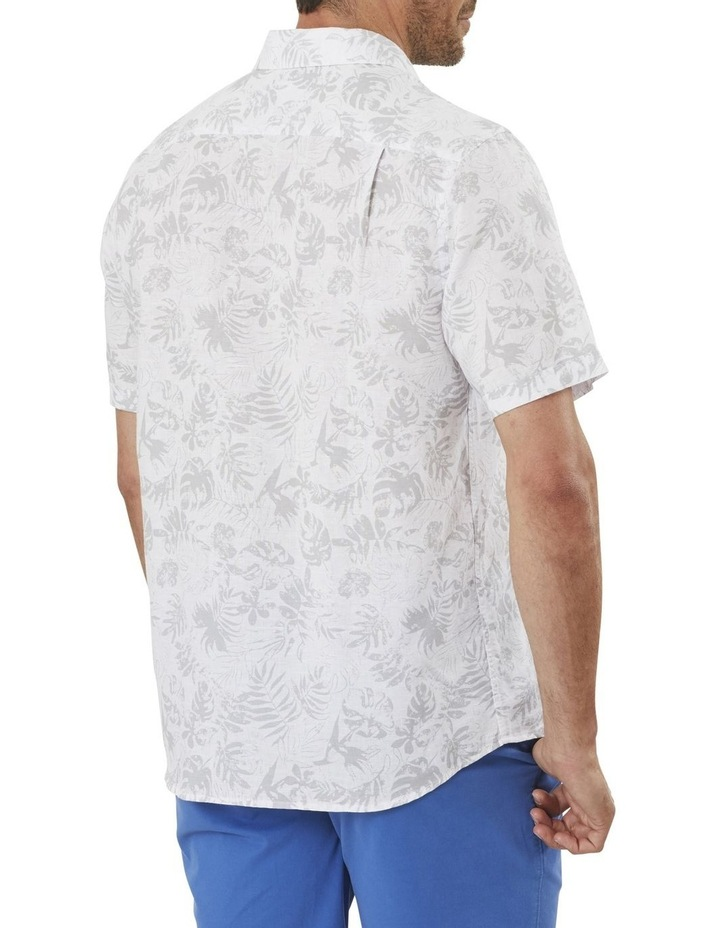 Linen Blend Floral Print Short Sleeve Shirt image 2