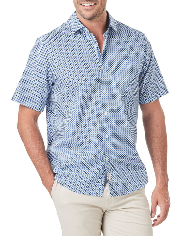 Smart Circle Geo Print Short Sleeve Shirt image 1
