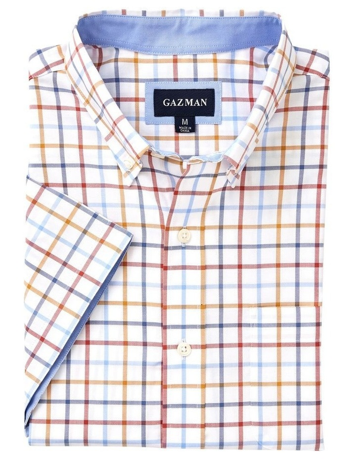 Easy Care Oxford Multi Check Short Sleeve Shirt image 4