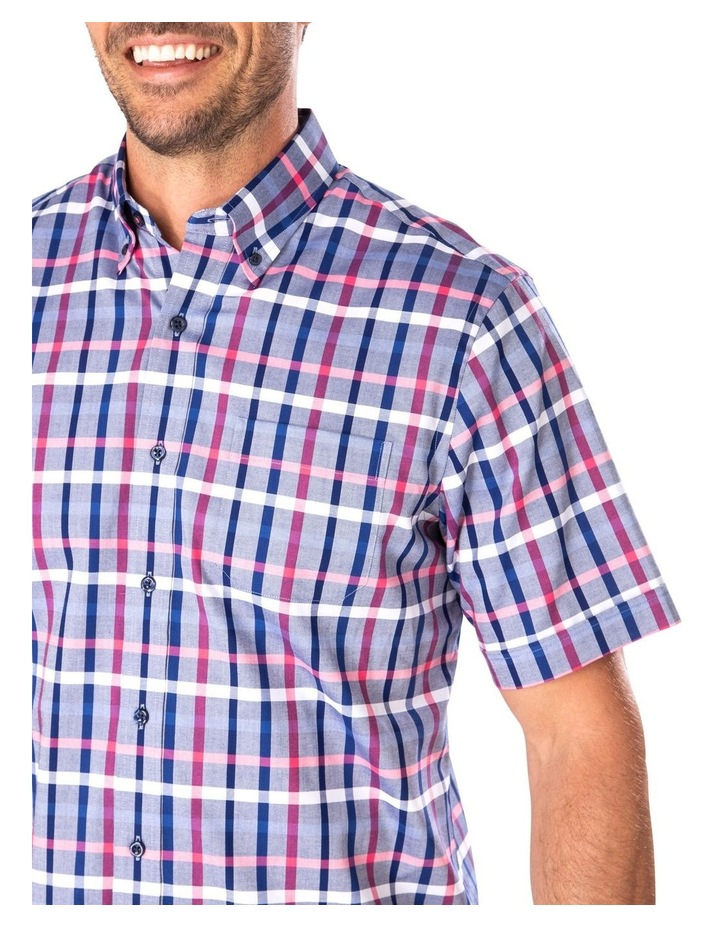 Easy Care Oxford Check Short Sleeve Shirt image 3