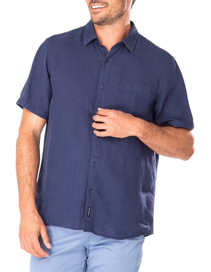 Pure Linen Plain Short Sleeve Shirt image 1