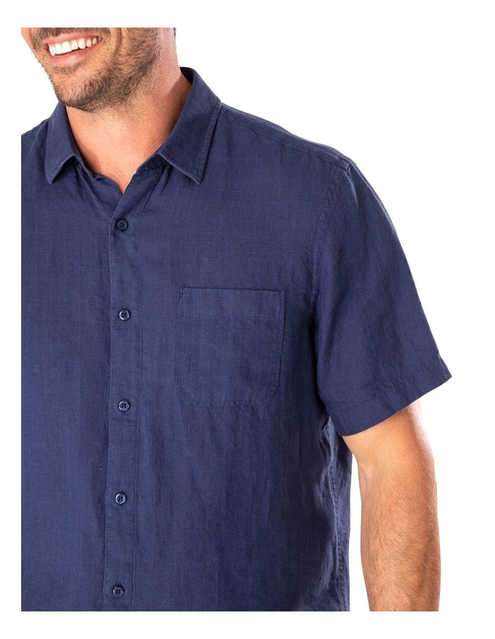 Pure Linen Plain Short Sleeve Shirt image 3