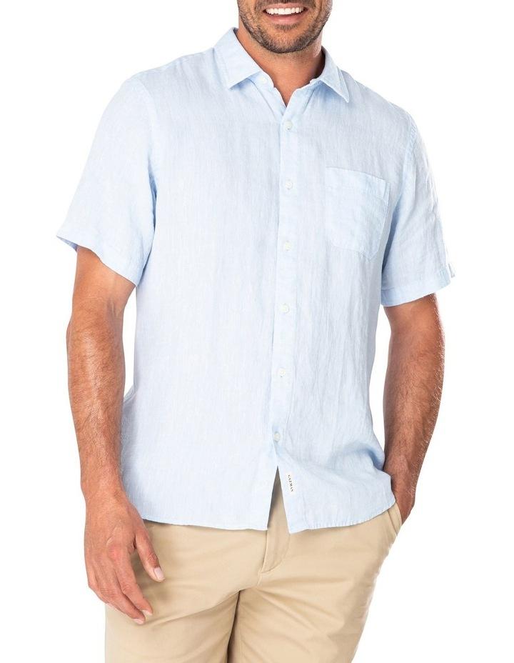Pure Linen Plain Short Sleeve Shirt image 1