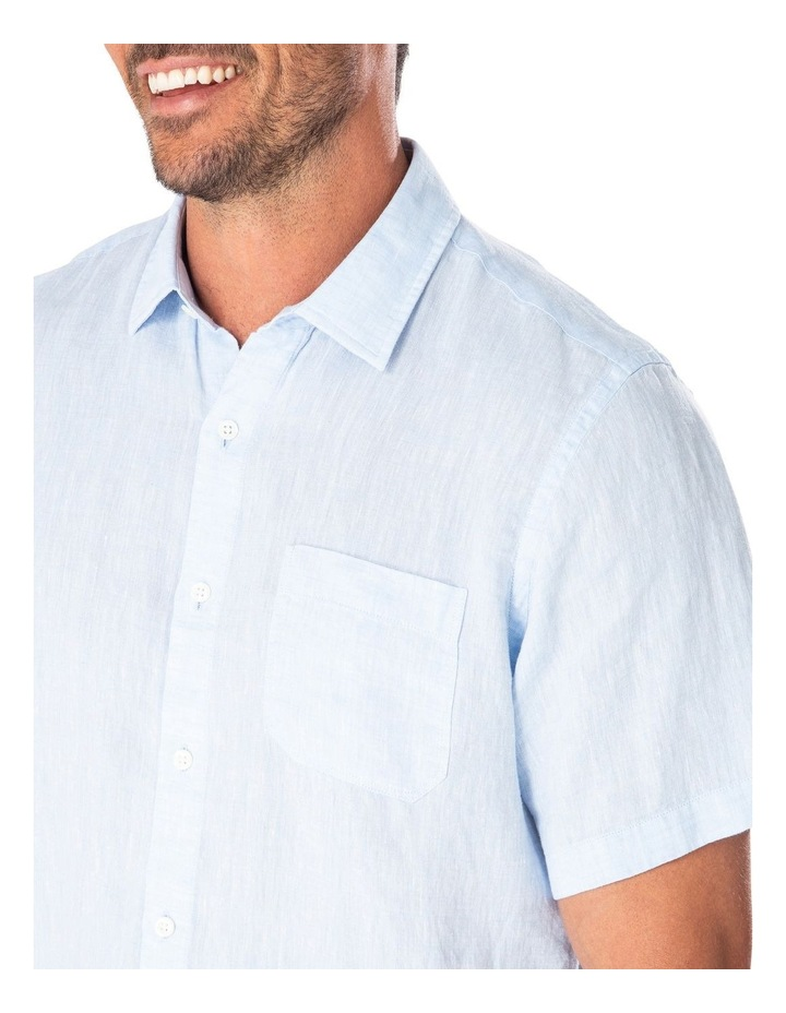 Pure Linen Plain Short Sleeve Shirt image 3