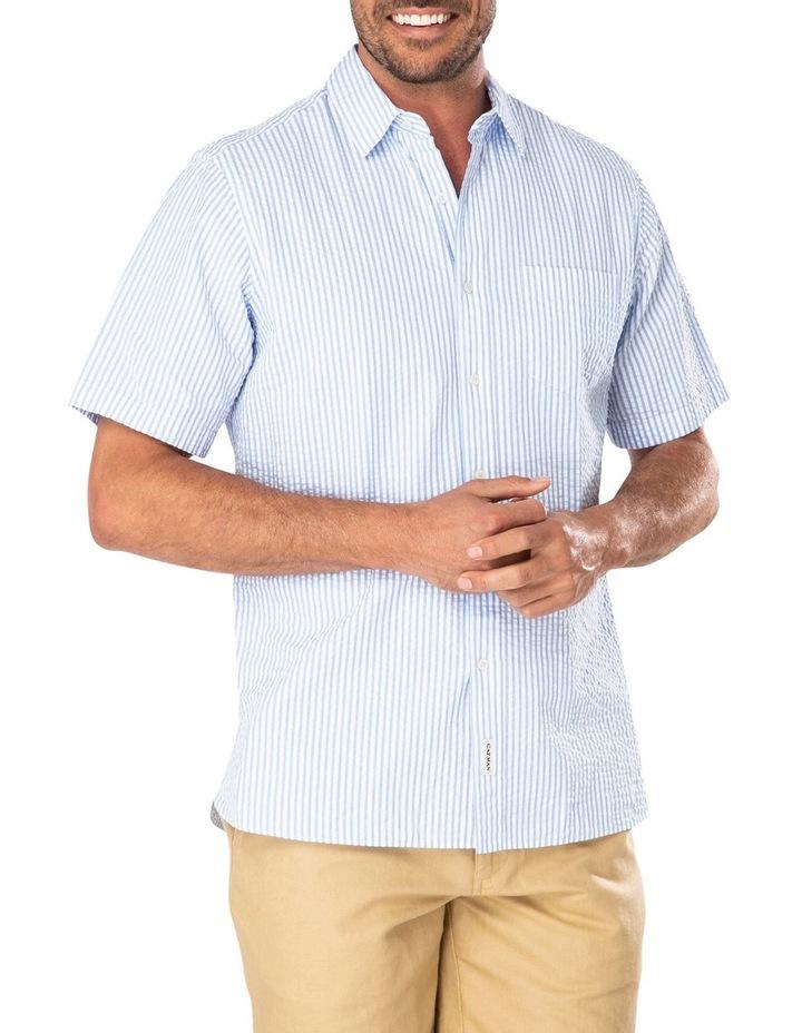 Seersucker Stripe Short Sleeve Shirt image 1