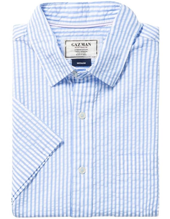 Seersucker Stripe Short Sleeve Shirt image 4