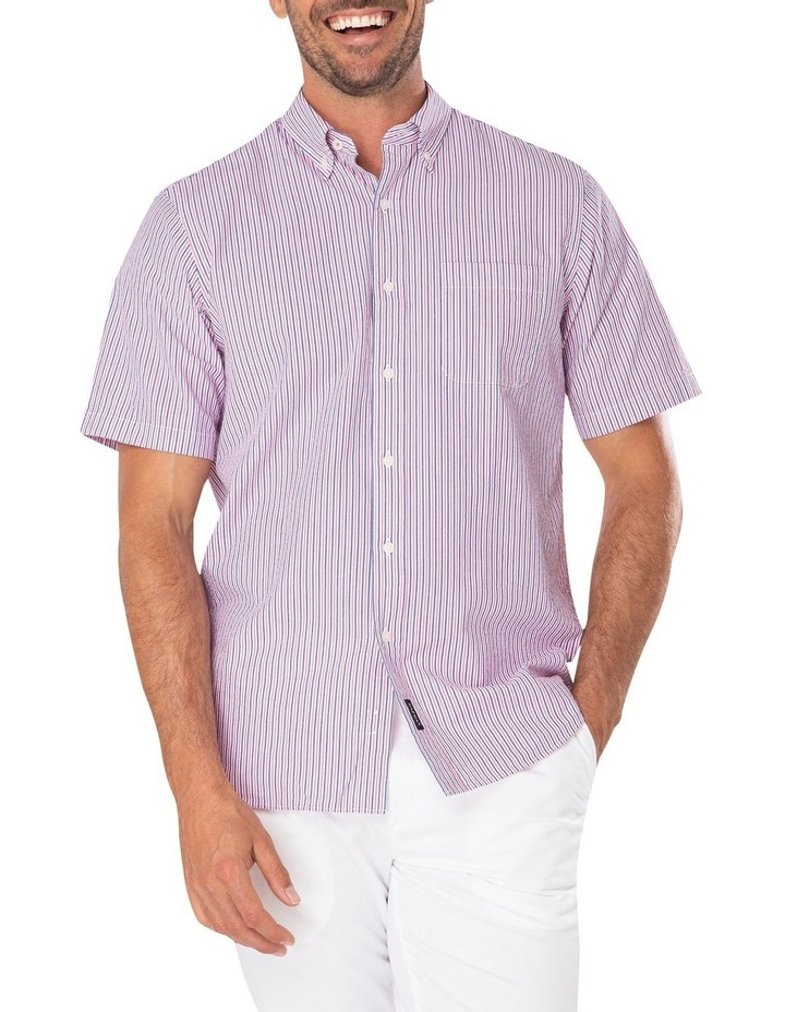 Seersucker Stripe Short Sleeve Shirt image 1