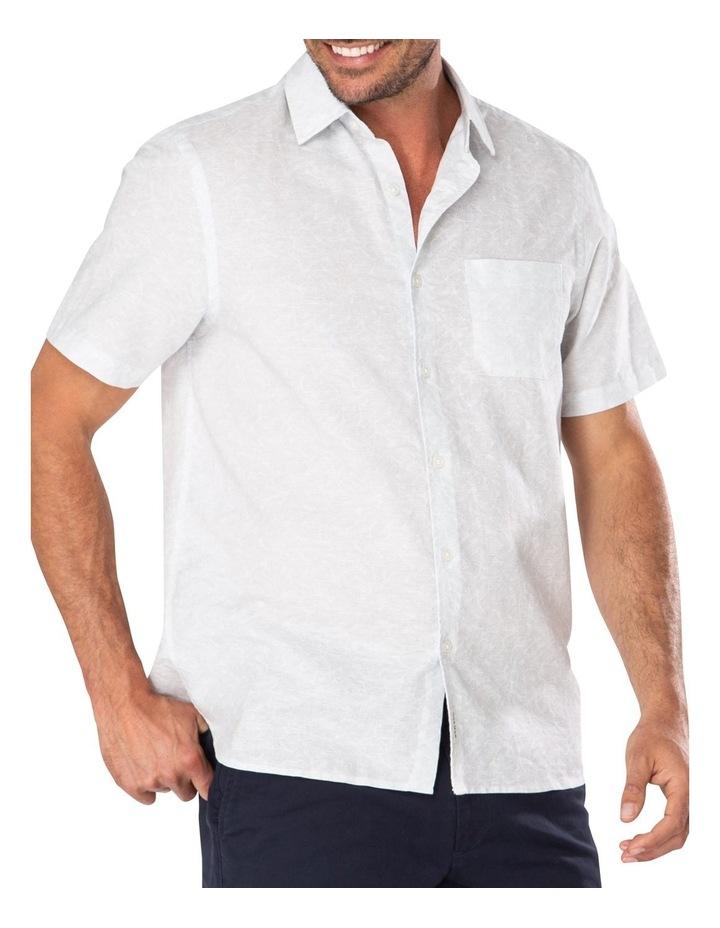 Light Grey Fern Print Short Sleeve Shirt image 1