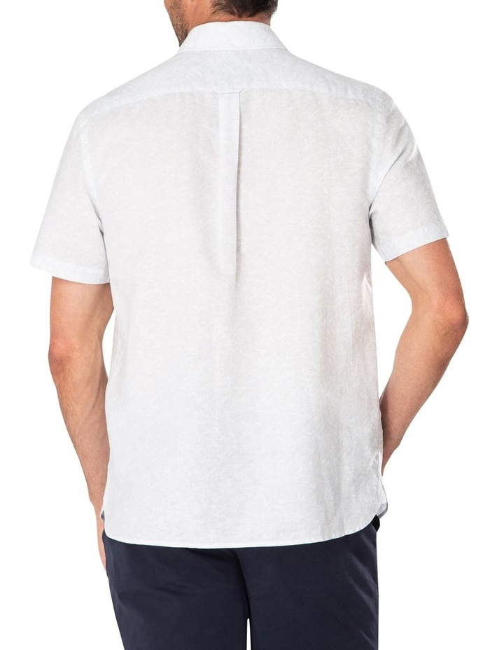 Light Grey Fern Print Short Sleeve Shirt image 2