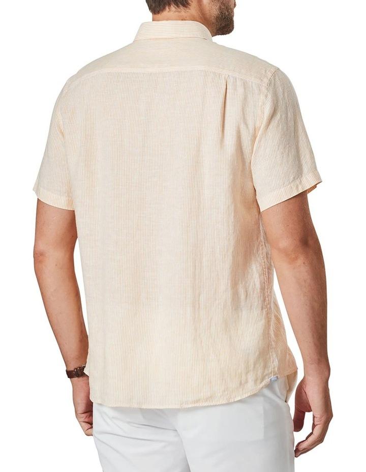 Pure Linen Stripe Short Sleeve Shirt Mango image 2
