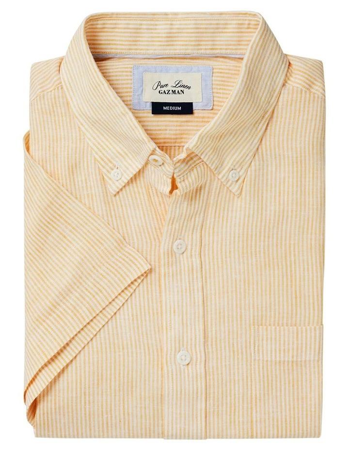 Pure Linen Stripe Short Sleeve Shirt Mango image 5