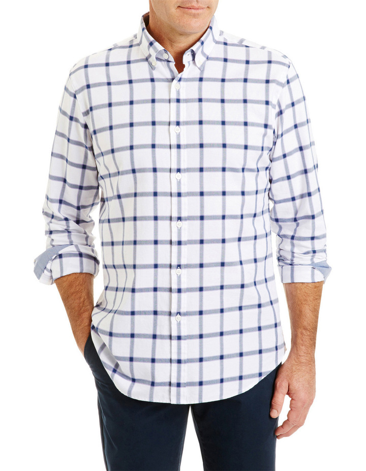 Tailored Large Oxford Check Shirt image 1