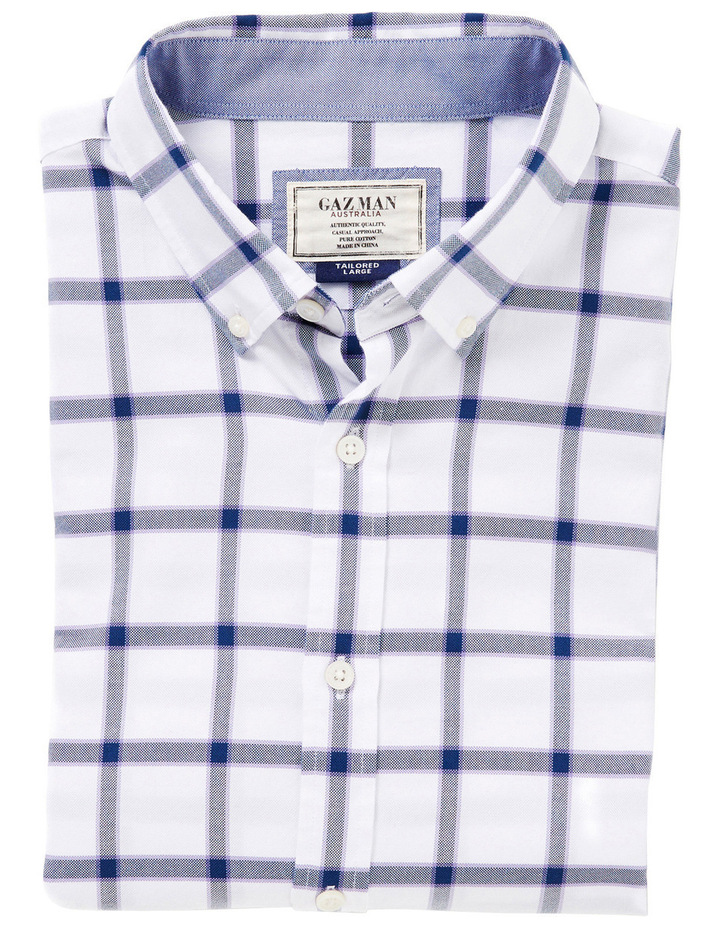 Tailored Large Oxford Check Shirt image 3